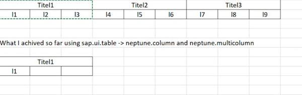 SAP UI TABLE - Multicolumn - Neptune Software Community